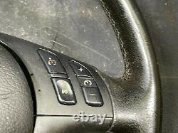 01-06 BMW E39 E38 E46 E53 LEFT DRIVER SIDE SPORT STEERING WHEEL with SAFETY BAG U3