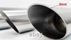 AB230 Auspuff Endrohre Blenden aus Edelstahl 101mm für BMW e90 e92 Sportauspuff