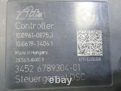 Genuine 2011 BMW E93 325i Convertible 2D 10-2014 ABS MODULE 3451 6789303-02 DE